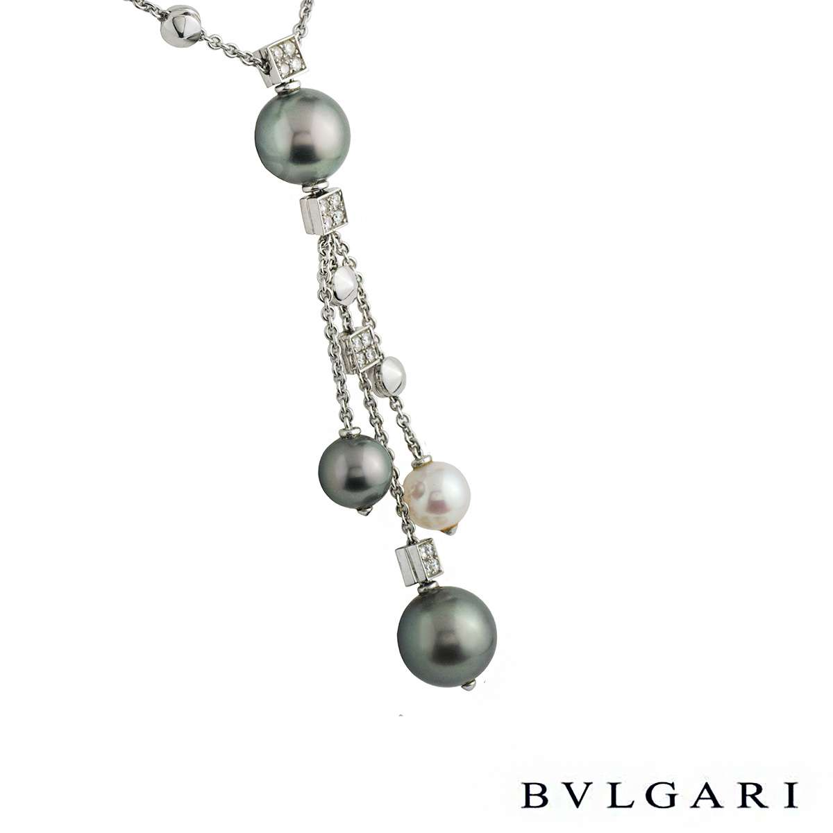 Bvlgari Lucea Diamond & Pearl Necklace